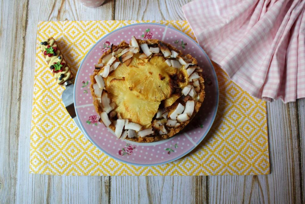 Tarta de Queso Con Piña y Coco