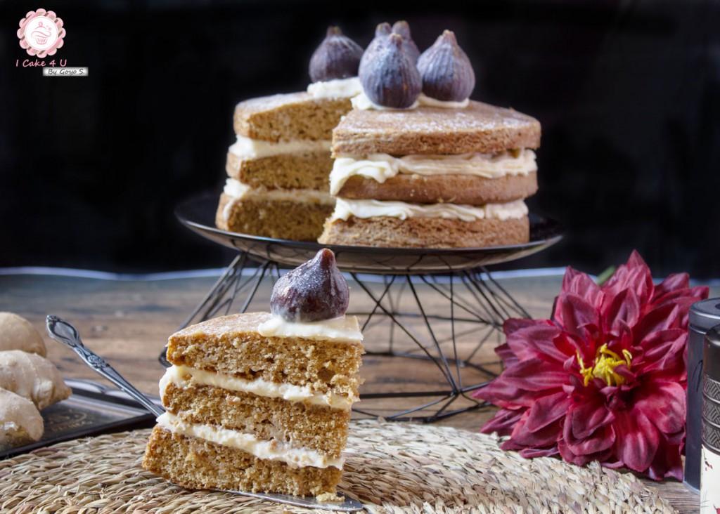 Naked Cake de Jengibre e Higos