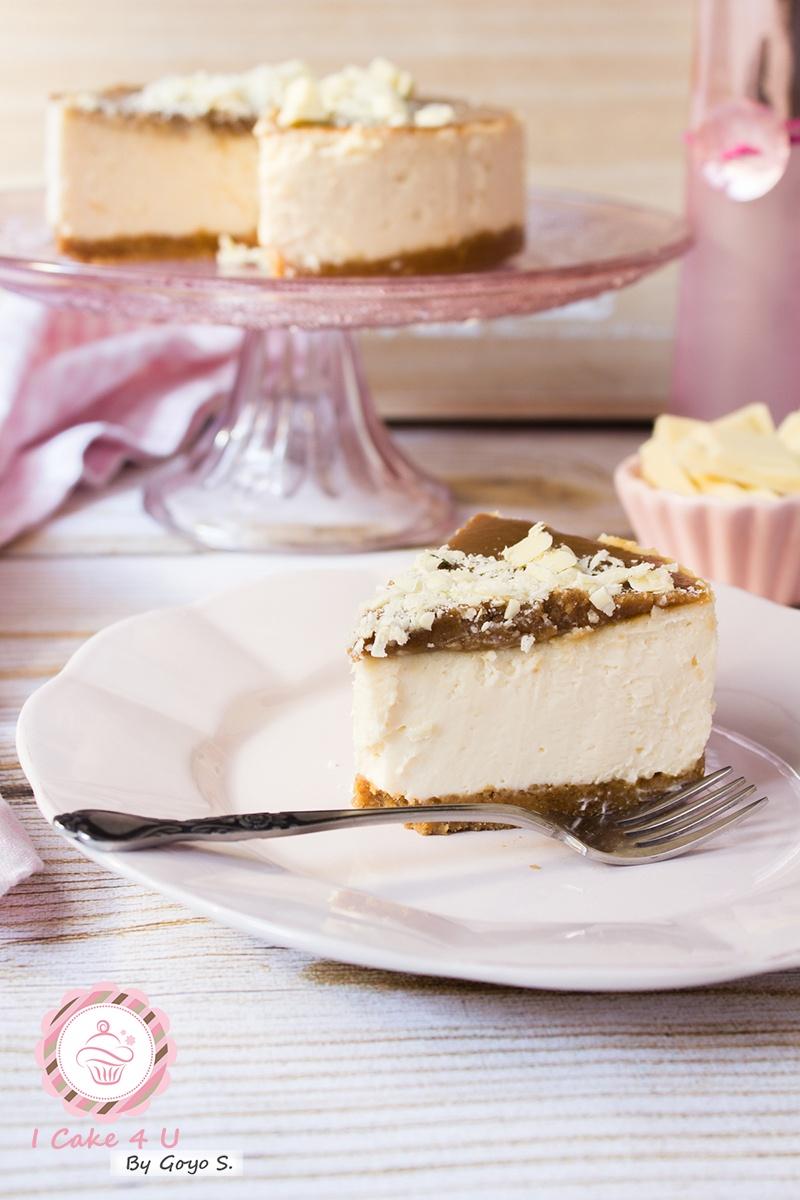 Cheesecake de Chocolate Blanco y toffee