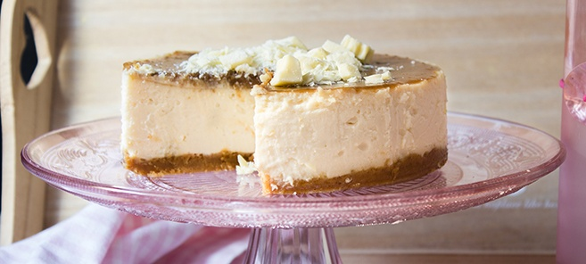 Cheesecake de Chocolate Blanco y toffee