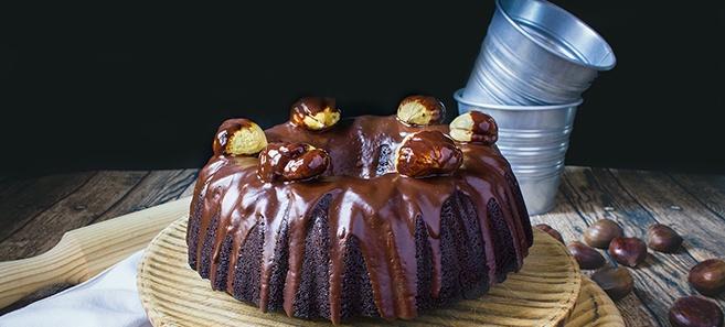 Bundt Cake de Castañas y Chocolate