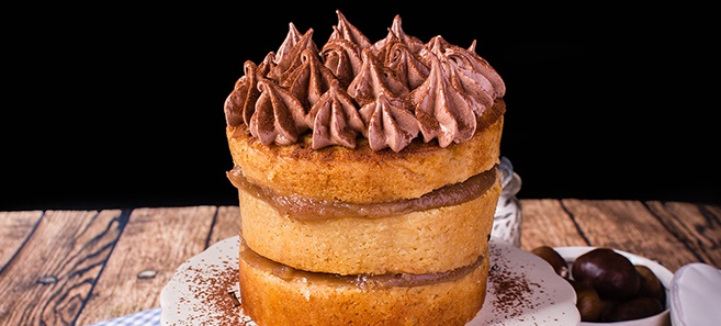 Layer Cake Marron Glace
