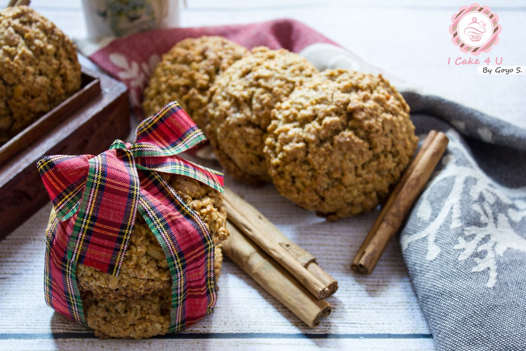 cookies de avena y zanahoria