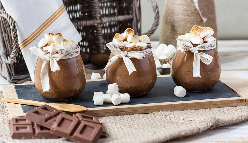 Mousse de Chocolate al Caramelo