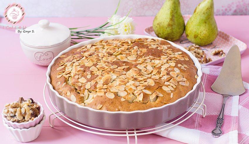 Pastel de Avena con Pera y Gorgonzola