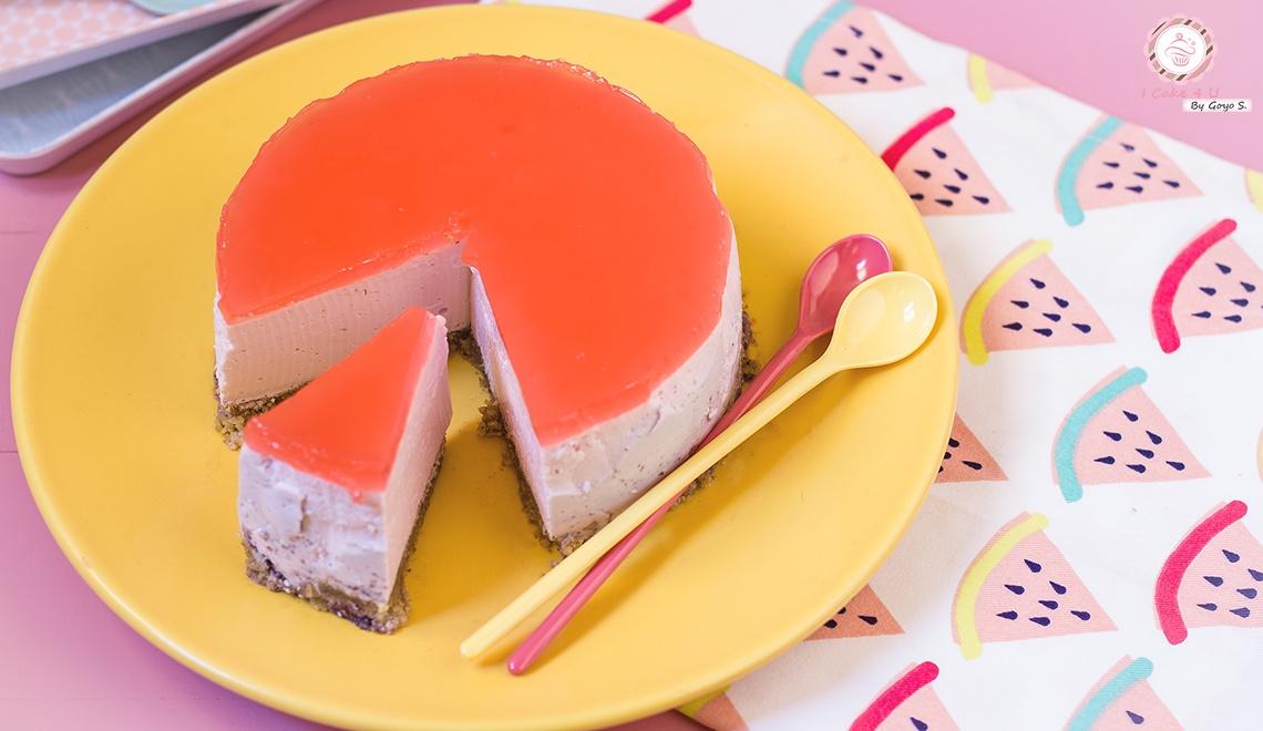 Cheesecake de Sandia Fitness
