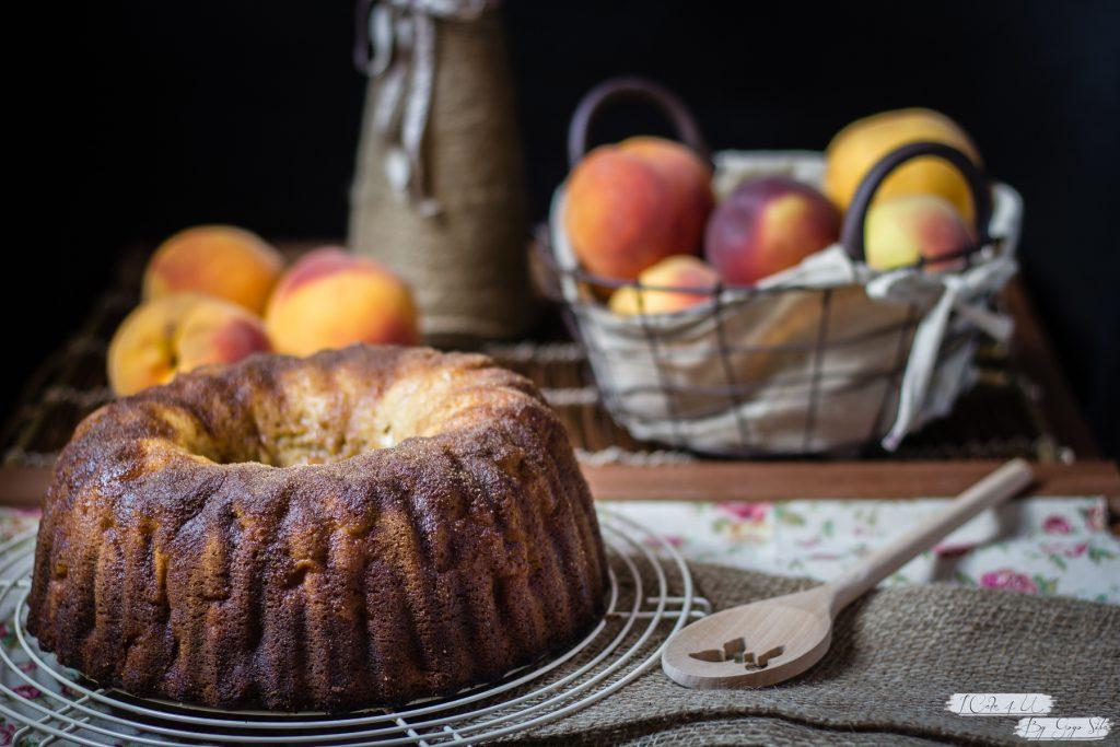 Bundt Cake de Melocotón y Nata