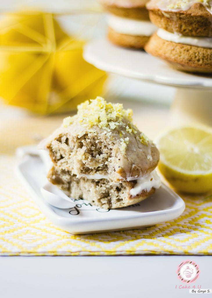 Whoopie Pies de Limón con Semillas de Amapola