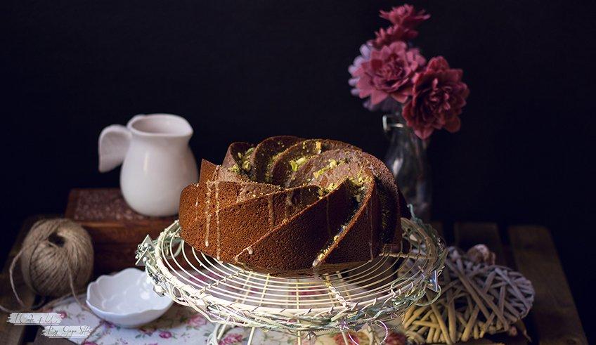 Bundt Cake de Pistacho y Chocolate Blanco