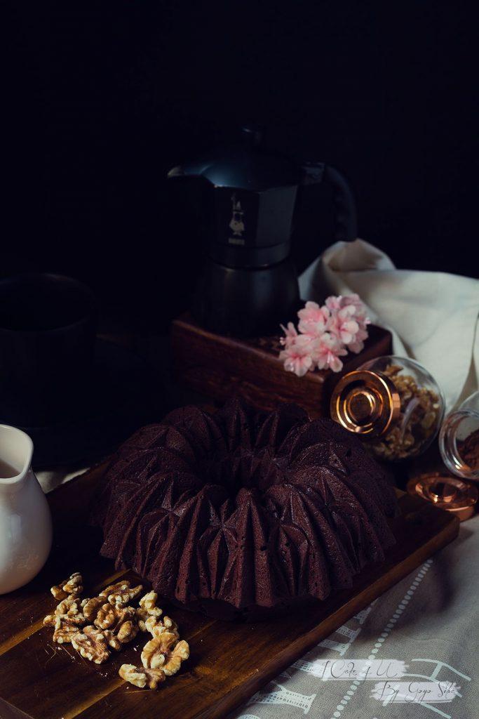 Bundt Cake Vegano de Chocolate y Café