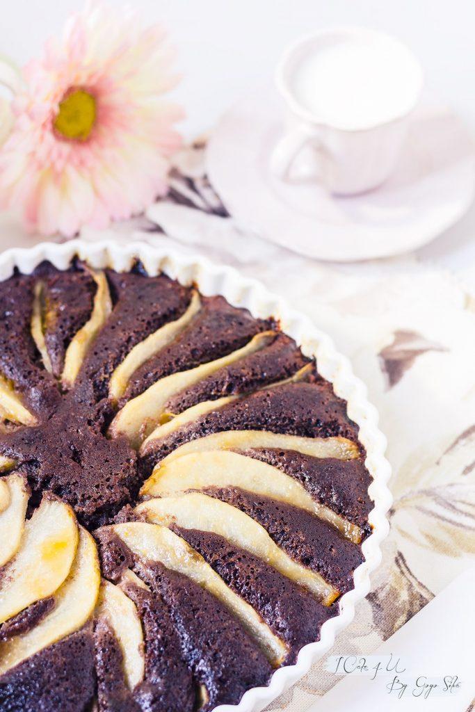 Pastel de Pera y Chocolate