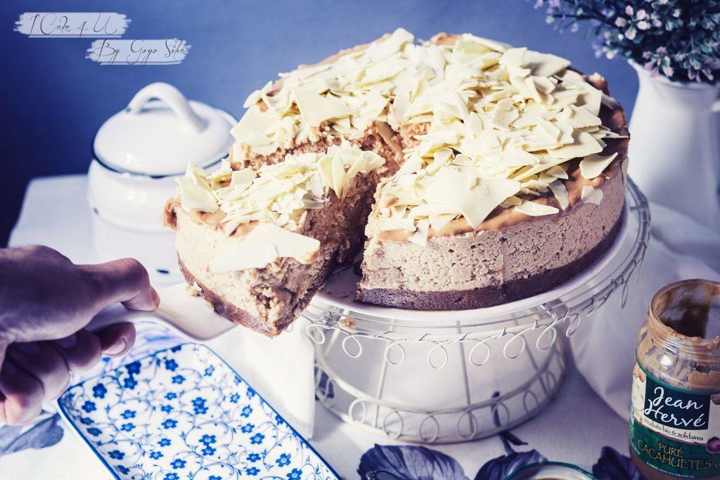 Tarta de Mousse de Crema de Cacahuete