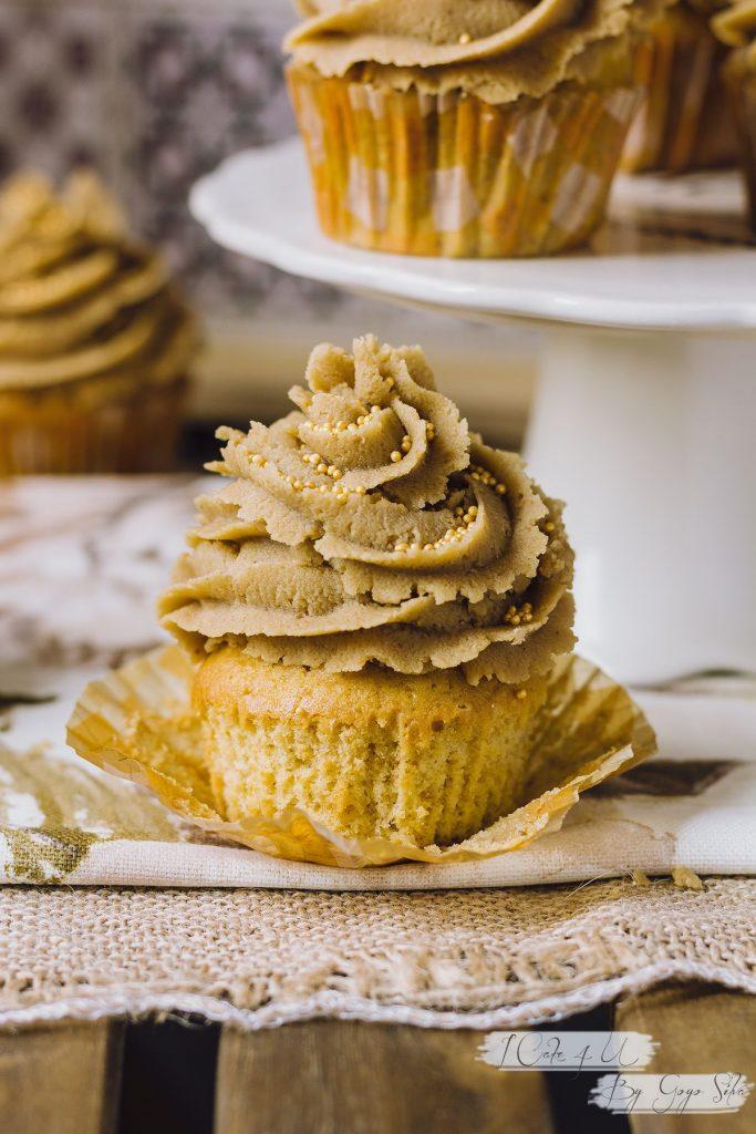 Cupcakes de Crema de Cacahuete