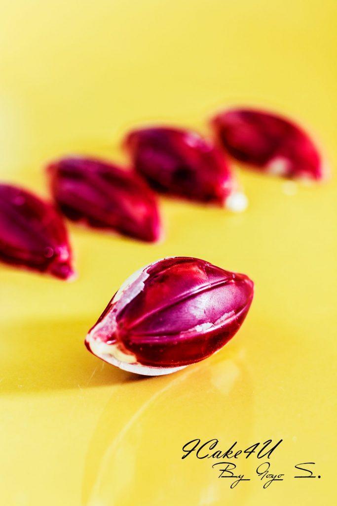 bombones de frambuesa