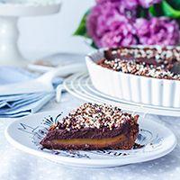 Tartaleta de Chocolate y toffee salado