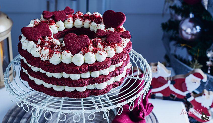 Tarta Corona de Navidad Red Velvet