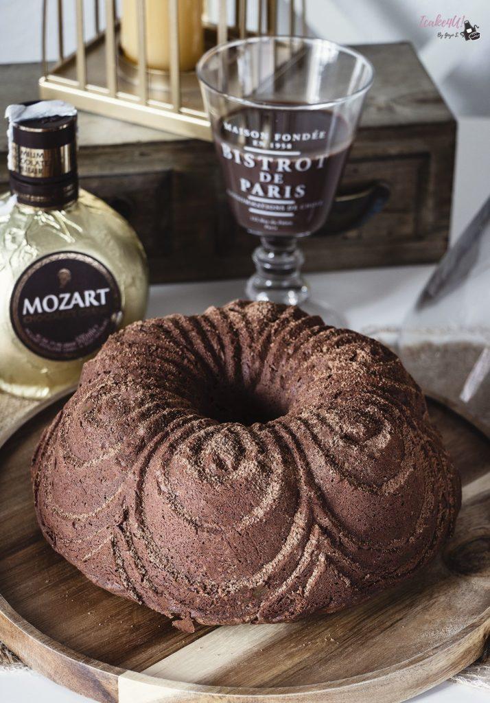 Bundt Cake Fudge de Licor de Chocolate Mozart