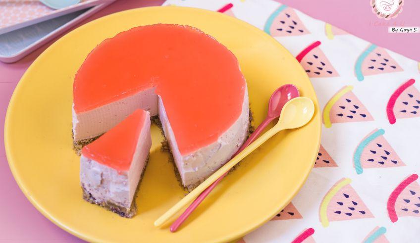 Cheesecake de Sandía Fitness